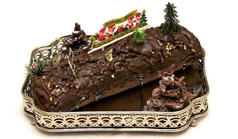 Frankrijk kerstmis Bûche de Noël