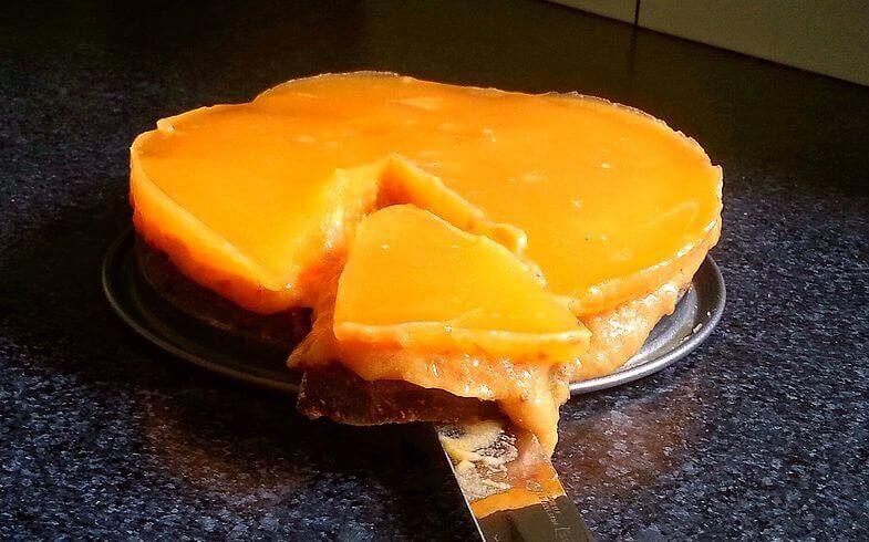 Oranje taart voor het WK voetbal