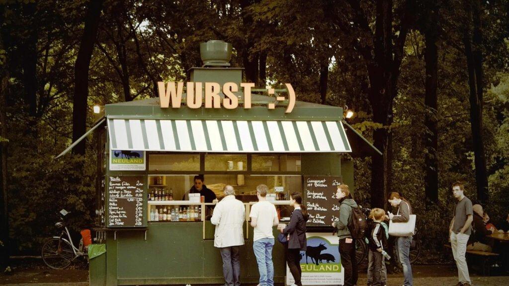 Typisch Duits eten: een broodje braadworst